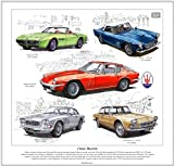 Classic Maserati Fine Art Print --- Ghibli, 3500GT, Mistral, Sebring & Quattroporte I. Ready to frame.
