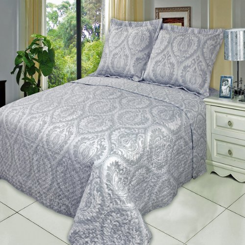 Judy Twin Size, Over-Sized Quilt 2Pc Set, Luxury Microfiber Printed Coverlet By Sheetsnthings front-1034915