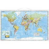 Weltkarte mit Flaggenrand