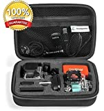 GoPro Case by TrioSportsUSA for Hero 4, 3+, 3, 2, 1 Camera and Accessories. Shockproof  for Travel and Storage with Waterproof Zipper - it floats!