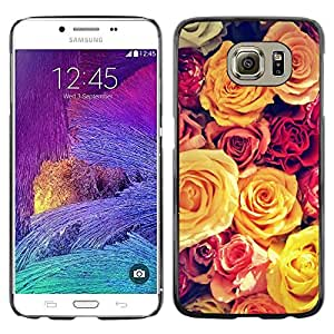 Omega Covers - Snap on Hard Back Case Cover Shell FOR Samsung Galaxy S6 - Vignette Yellow Bouquet Spring Love