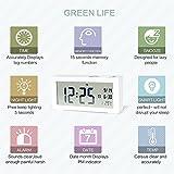 Sunyin Digital Alarm Clock,Minimalistic and Modern with Night Light,White