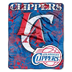 NBA Los Angeles Clippers Dropdown Royal Plush Raschel Throw Blanket, 50x60-Inch by Northwest