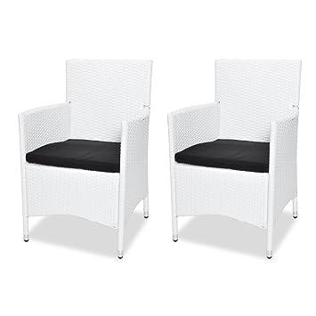 2 rattan sessel stuhl st hle garten rattan m bel rattansessel rattanstuhl kissen db869. Black Bedroom Furniture Sets. Home Design Ideas