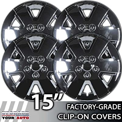 2008-2010 Ford Focus 15 Inch Chrome Clip-On Hubcap Covers