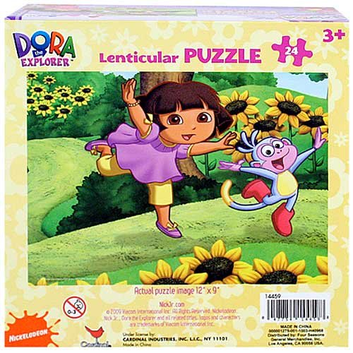 Cheap Dora the Explorer Dora the Explorer Lenticular Puzzle [24 PCS – Dora and Boots – Flowers] (B0041OMUA4)