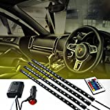 Cyber Cart 4PSC 8 Colors Car Interior Atmosphere Light LED with Wireless Remote Control
