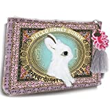 Papaya Art Honey Bunny White Rabbit Oil Cloth Travel Pouch Cosmetic Make-up Bag