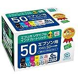 エコリカ リサイクルインクカートリッジ EPSON 6色セット IC6CL50 ECI-E506P/BOX