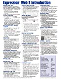 Expression Web 3 Quick Reference Guide (Cheat Sheet of Instructions, Tips & Shortcuts - Laminated Card)