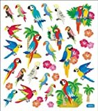 Multi-Colored Stickers-Parrots