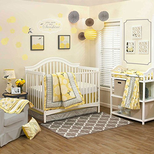 Stella 4 Piece Baby Crib Bedding Set by The Peanut Shell - 1