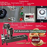 Yoli® Commercial Automatic Donut Machine,stainless Steel Donut Maker/fryer,wider Oil Tank,3 Sizes Moulds