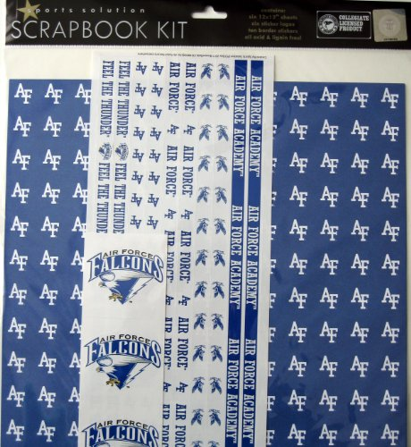 Sports Solution Air Force Falcons Scrapbook Page Kit