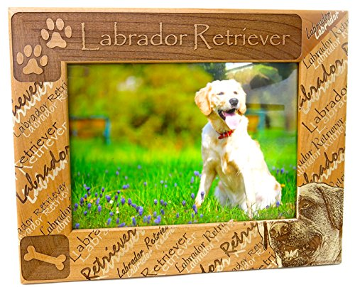 Labrador Retriever, Dog Breed, Mothers Day Gift, Rich Alderwood, Beautiful Laser Cut Design, Photo Insert Size 5x7 Insert, Over All Frame Size Is 7 1/2 X 9 1/2