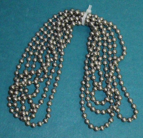 #10 NICKEL Plate METAL BEAD CHAIN for CLUTCH ROLLER WINDOW SHADES - 72