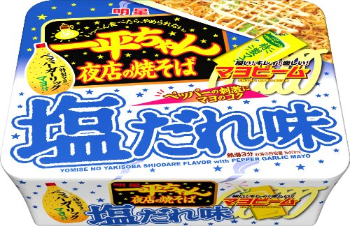 132g12 pieces mein salt who taste of stalls Myojo Ippei-chan...