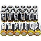 ULとCE 認証18 Pcs Keenstone® CR123A 懐中電灯、デジタルカメラ、ビデオカメラ用の使い捨て高性能リチウム円筒型バッテリ