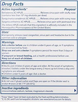 Sinusalia Sinus Pain - 60 Tablets