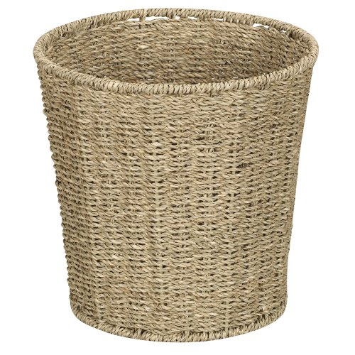 Household Essentials Woven Seagrass Waste Bin (Wicker Garbage Can compare prices)