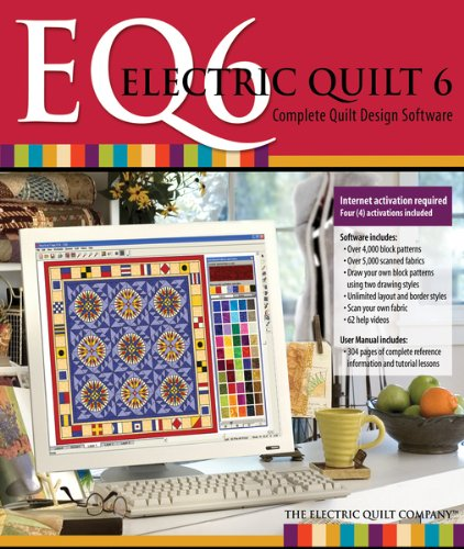 Electric Quilt 6 Eq6 Quilt Design Software With Manual front-87604
