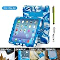 Ipad Air Case,aceguarder Ipad Air Case Cover *New* [Kidproof ] [Rainproof] [Dustproof] [ Shockproof] [ Anti-wrestling] Multiple Protection Silicone Plastic Standing Case for Ipad Air 5 Designed for Outdoor and Travel Gifts (Carabiner)+(whistle)+(capacitor