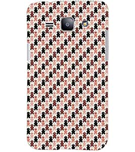 PrintDhaba TEDDY PATTERN D-6734 Back Case Cover for SAMSUNG GALAXY J1 (Multi-Coloured)