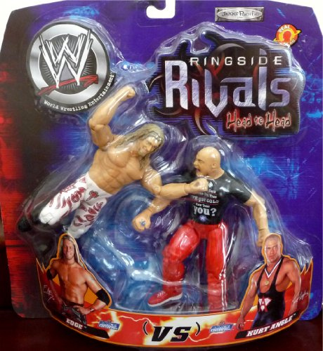 Buy Low Price Jakks Pacific Edge vs. Kurt Angle WWE Ringside Rivals Head to Head Toy Figures (B004WX3EXG)