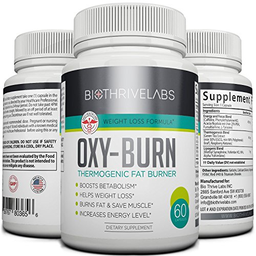 Oxy Burn Thermogenic Supplement Pills 60 Capsules Of Extreme Fat