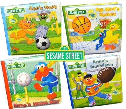 Sporty Elmo Bath Books, Set Of 4 Books. front-984326