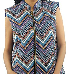 Fashion Hub Winter Women Wear Sleeveless Printed Jacket
