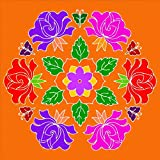 meSleep Printed Floral Rangoli For Festivals