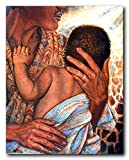 Mother with Child African American Wall Decor Art Print Poster (16x20)