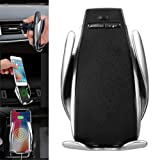 XBERSTAR Automatic Opening and Clamping Wireless Car Charger Air Vent Mount 360 Degree Rotations for iPhone iOS Samsung Android Type-C Smart Phones (Tamaño: magic clip only)