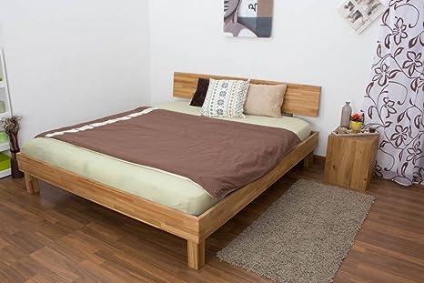 Lit futon / en bois de chêne massif huilée Wooden Nature 02, couchage 180 x 200 cm