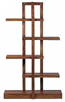 180x 110x 40cm Libreria in legno Sheesham massiccio miele corpo design