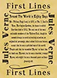 Parchment Style Card Greetings Card 14cm x 10cm Literary First Lines Jules Verne Around The World in Eighty Days