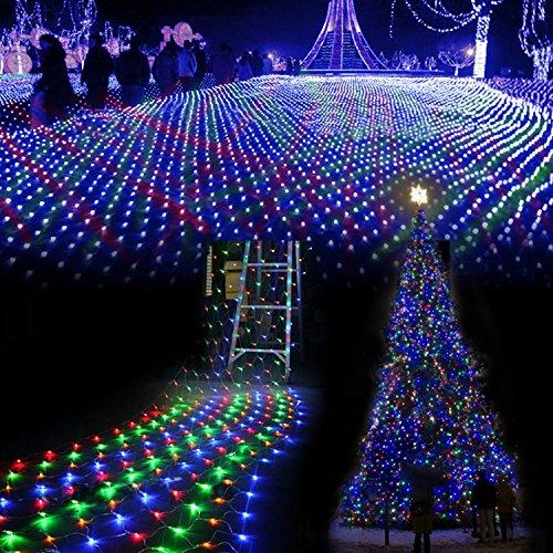 E-Goal Multi-Color 100 Led Net Mesh Fairy Lights Twinkle Lighting Christmas Wedding ...