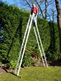 16 Rung 2 Section Combi All-In-One Extension Ladder & Double Sided Step Ladder