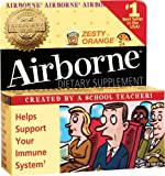 Airborne Effervescent Health Immune Boosting Formula Zesty Orange 36 Tablets (Bonus Size)
