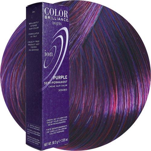 about Ion Color Brilliance Brights Semi-Permanent Hair Color PurpleDark Purple Hair Dye Brands