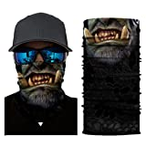 Hot Sale! Hongxin 3D Seamless Magic Headband Clown Joker Skull Vendetta Neck Warmer Gaiter Half Face Mask Headwear Bandana Head Scarf Summer Men Clearance (A) (Color: A)