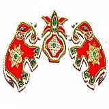 Ghasitaram Gifts Elephant Pair Rangoli