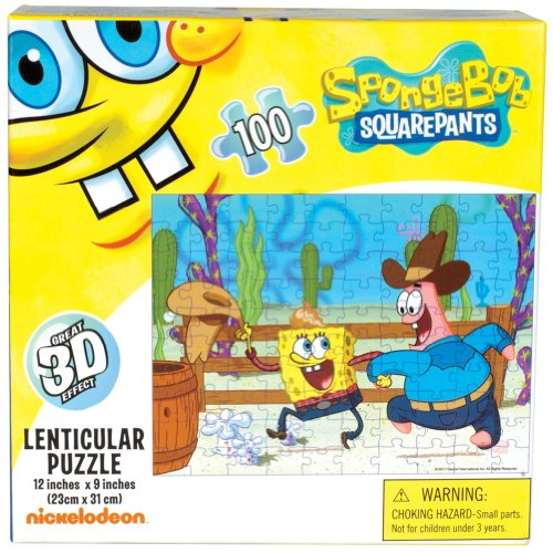 Spongebob Squarepants - Western Chill 100-Piece Holographic Puzzle