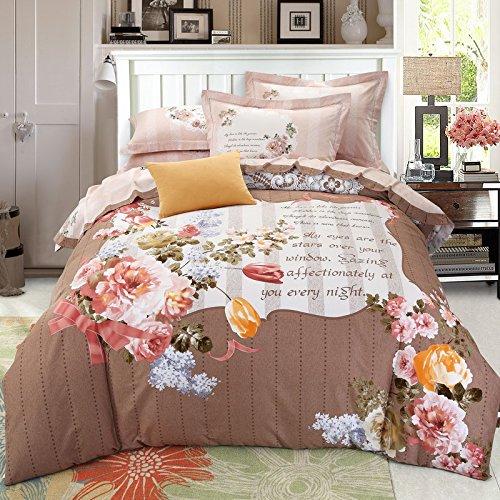 HlA Set di Set di quattro pezzi di biancheria da letto Cialda di cotone biancheria 4 pezzo di puro cotone Kit biancheria da letto , Mute ,2,0M buon tempo (6.6 ft) Letto