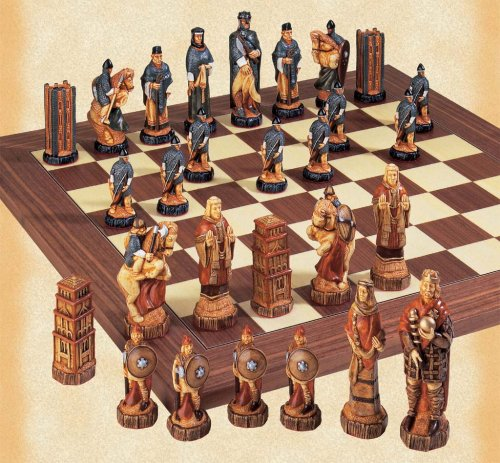 The Battle of Hastings Hand Decorated Chessmen - Buy The Battle of Hastings Hand Decorated Chessmen - Purchase The Battle of Hastings Hand Decorated Chessmen (Studio Anne Carlton, Toys & Games,Categories,Games,Board Games,Checkers Chess & Backgammon)