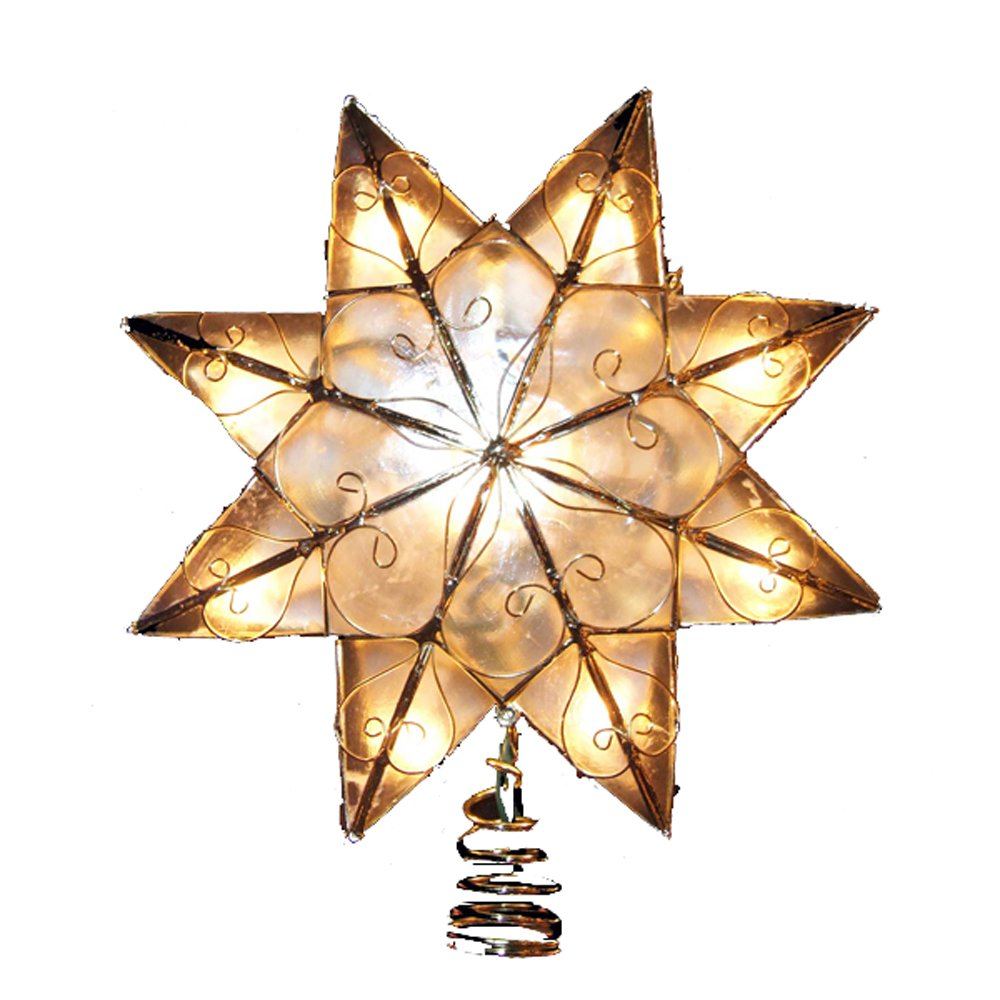 Star For A Christmas Tree: Christmas Stars Gold Tree Toppers