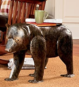 Hand-hammered Iron Bear Stool With Copper Finish by Plow & Hearth®