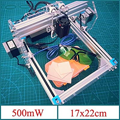 KAMOLTECH 500mW Desktop DIY Violet Laser Engraver Engraving Machine Picture CNC Printer Assembling Kits