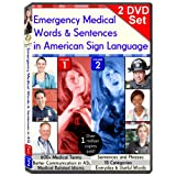 Emergency Medical Words & Sentences in American Sign Language, Vol  1-2 (2-DVD Set)